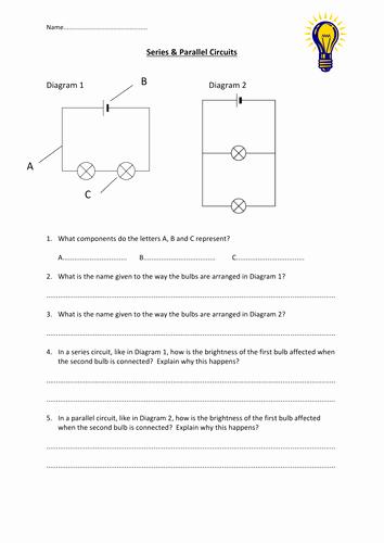 Series and Parallel Circuits Worksheet Elegant Series & Parallel Circuits Worksheet by Edp10ch
