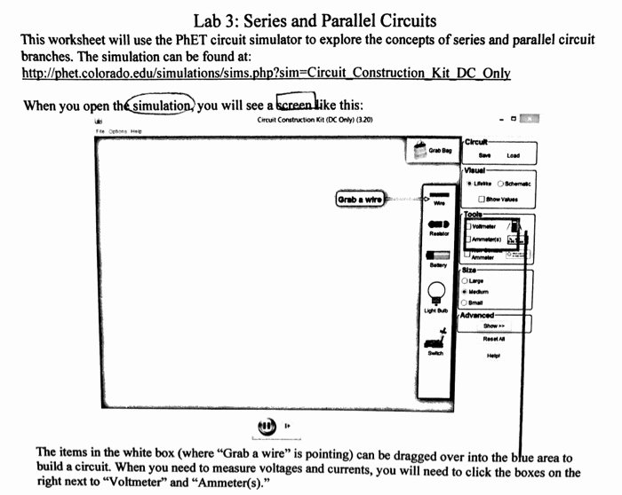 Series and Parallel Circuits Worksheet Elegant solved Lab 3 Series and Parallel Circuits This Worksheet