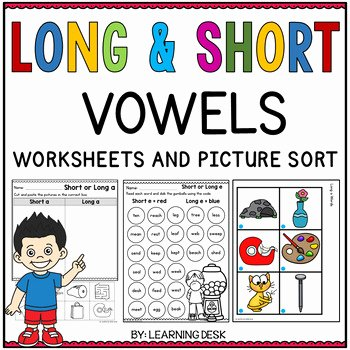 Short and Long Vowel Worksheet Elegant Long and Short Vowels Worksheets by Learning Desk