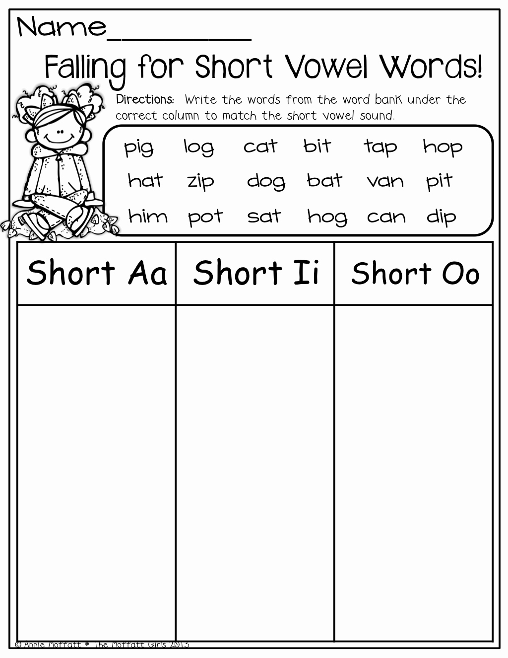 Short and Long Vowel Worksheet Lovely Short Vowel Word sort