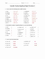 Sig Figs Worksheet with Answers Inspirational Sig Figs & Sci Notation Worksheet & Answer Key