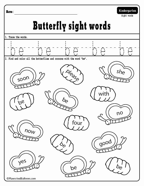 Sight Word Like Worksheet Elegant Spring Sight Words Planes & Balloons