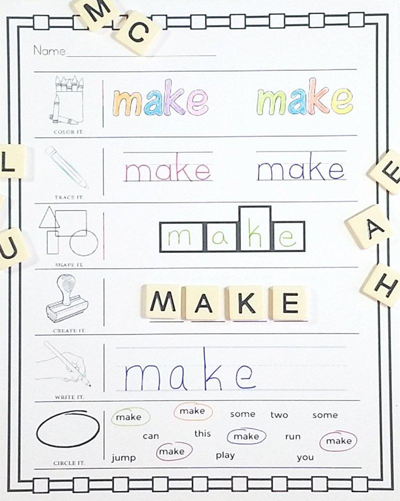 Sight Word Like Worksheet Luxury Pre Primer Sight Words No Prep Worksheets E