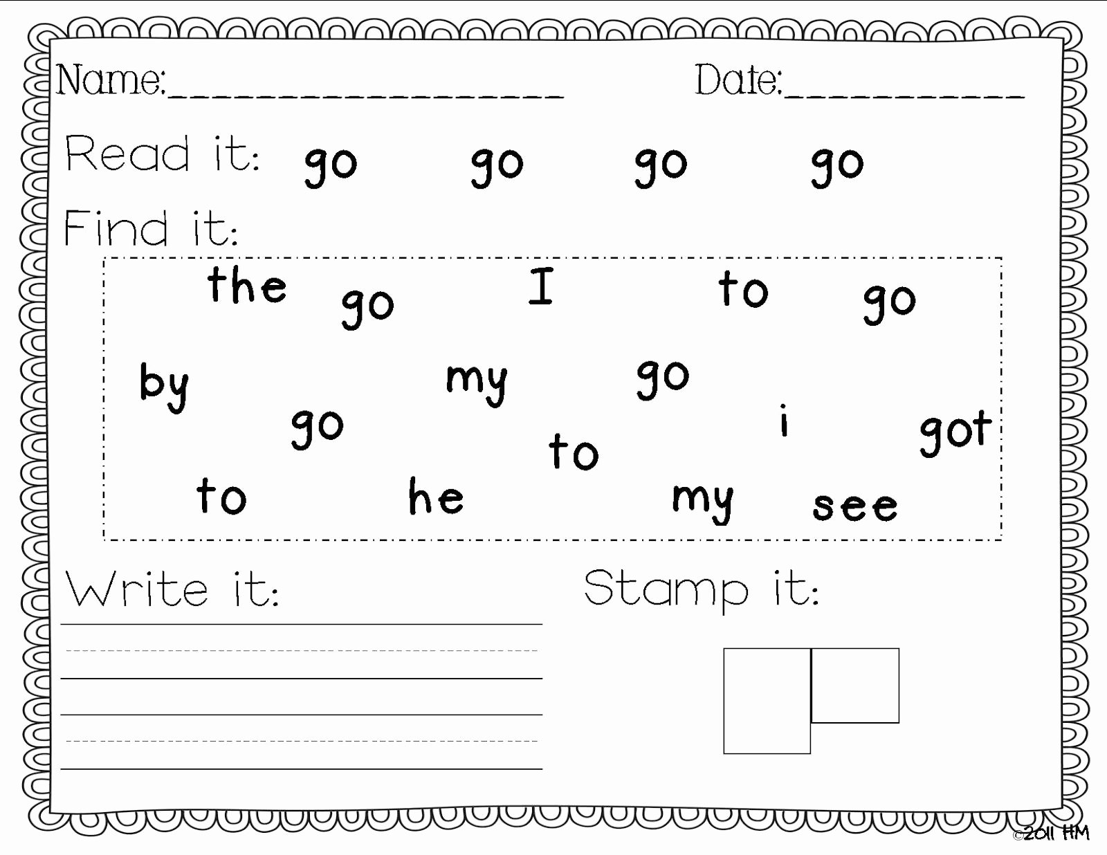 Sight Word Like Worksheet Luxury Sight Word Writing Practice