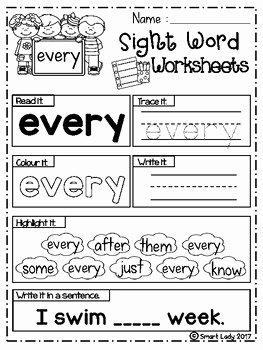 Sight Word Like Worksheet Unique Free Sight Word Worksheets First Grade by Smart Lady