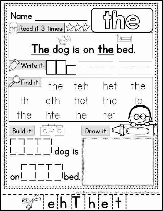 Sight Words Worksheet for Kindergarten Beautiful Blog Post On Sight Word Ideas Free Word Wall Cards and