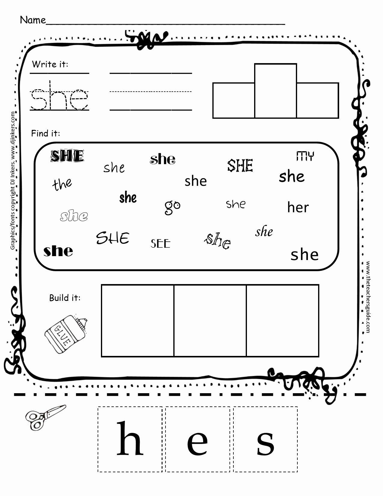 Sight Words Worksheet for Kindergarten Beautiful Worksheets for Kindergarten Sight Words Worksheet Mogenk