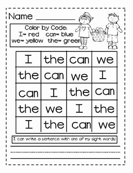Sight Words Worksheet for Kindergarten Fresh Search Kindergarten Worksheets and Esl On Pinterest