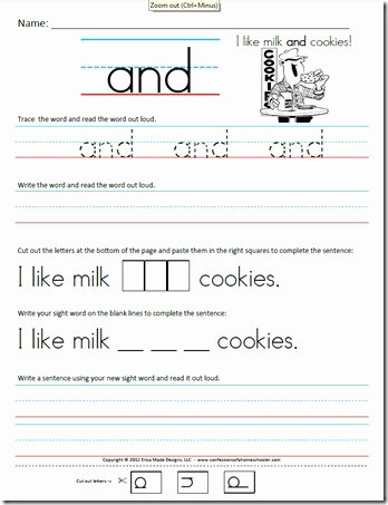 Sight Words Worksheet for Kindergarten Inspirational Kindergarten Primer Sight Word Sentences Confessions