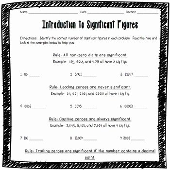 Significant Figures Practice Worksheet Best Of Introduction to Significant Figures Worksheet by