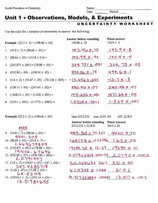 Significant Figures Worksheet with Answers Beautiful Significant Figures Practice Worksheet
