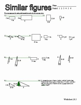 Similar Figures Worksheet Answer Key Beautiful Proportions Similar Figures Worksheet by Stone