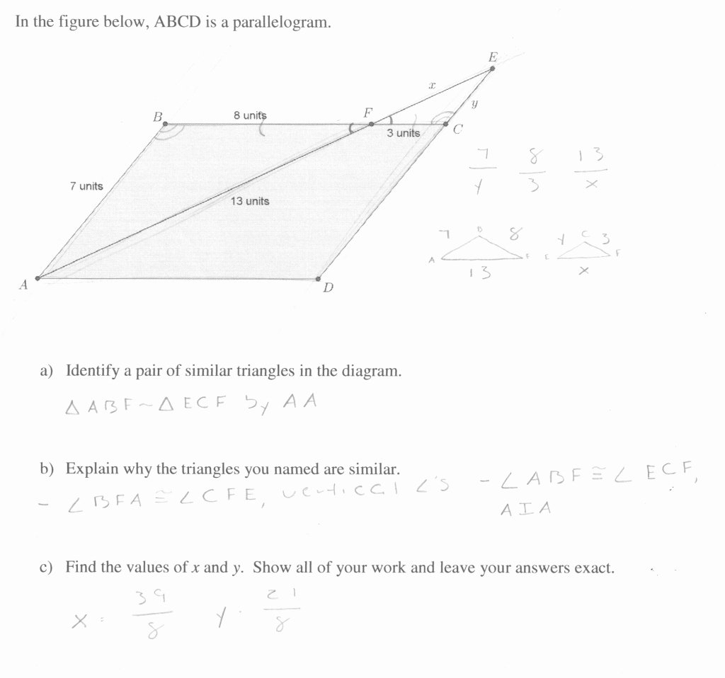 Similar Figures Worksheet Answer Key Best Of Awesome Similar Triangles Students are asked Locate A Pair