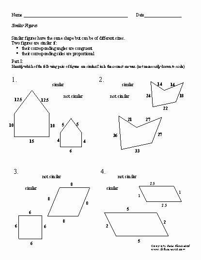 Similar Figures Worksheet Answer Key Elegant Similar Triangles Worksheet