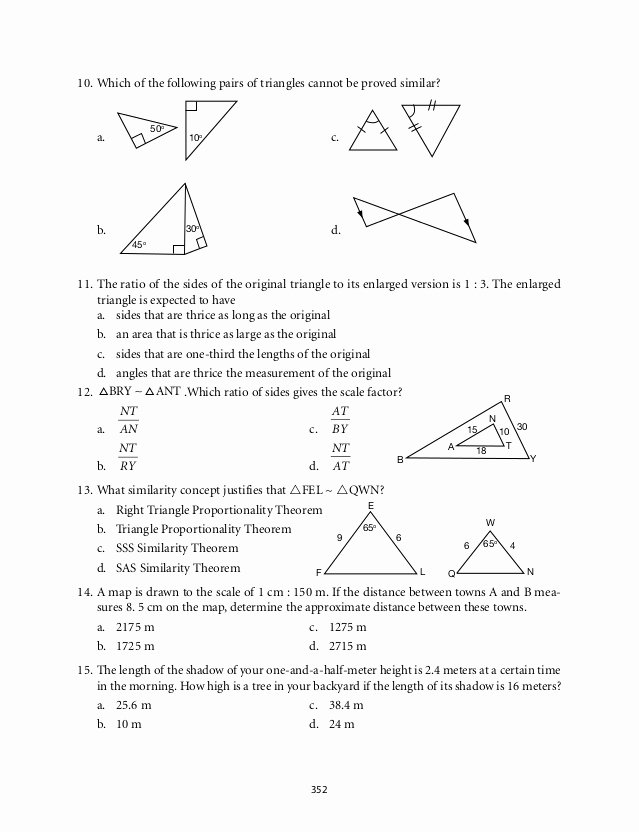 Similar Figures Worksheet Answer Key Fresh Lesson 9 Homework Practice Similar Figures Answers