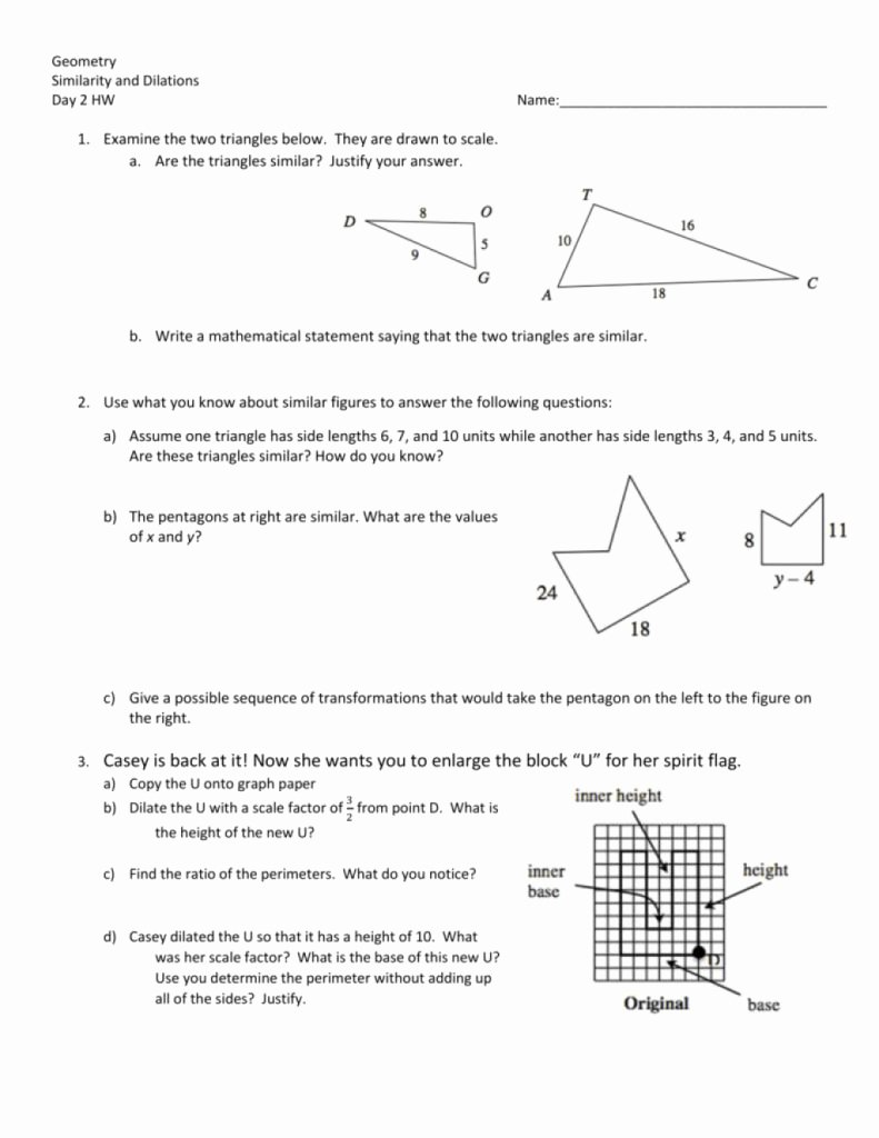 Similar Figures Worksheet Answer Key Fresh the Best Template Of Day Homework Worksheet From by