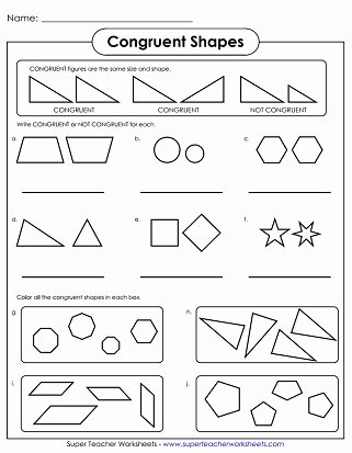 Similar Figures Worksheet Answer Key Luxury Geometry Worksheets Congruent and Similar Shapes