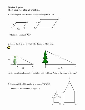 Similar Figures Worksheet Answer Key Unique Scale Drawings Of Geometric Figures Independent Practice