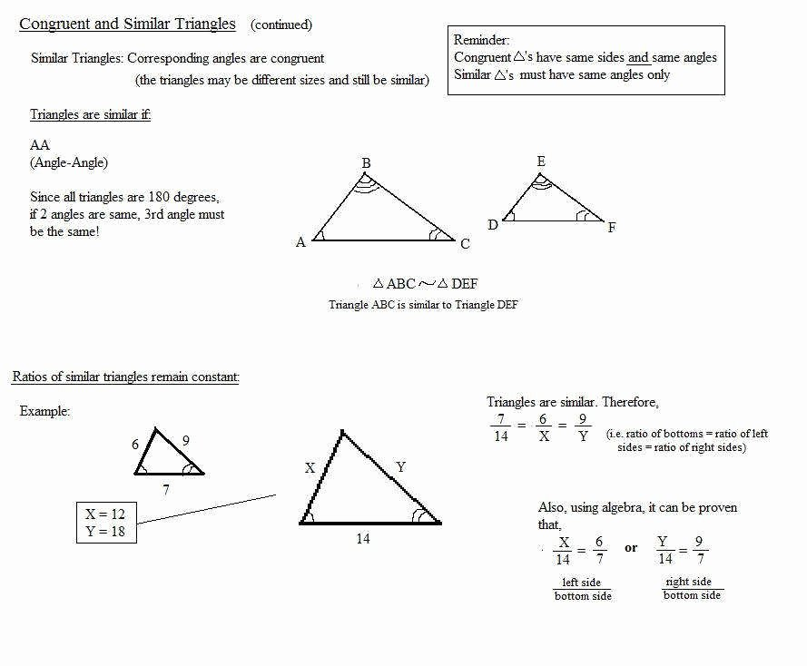 Similar Figures Worksheet Answers Beautiful Similar Triangles Worksheet