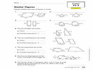 Similar Figures Worksheet Answers Elegant Similar Figures 10th Grade Worksheet