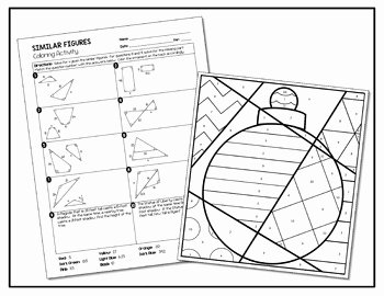 Similar Figures Worksheet Answers Fresh Similar Figures Coloring Activity by All Things Algebra