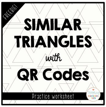 Similar Figures Worksheet Answers Inspirational Similar Triangles Worksheet Freebie with Qr Codes