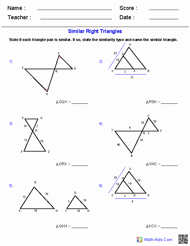 Similar Figures Worksheet Answers Luxury Geometry Worksheets