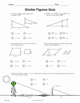 Similar Figures Worksheet Answers Unique Similar Figures Quiz by Maisonet Math Middle School