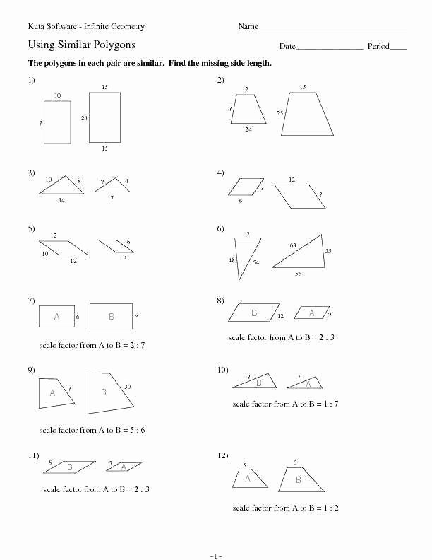 Similar Polygons Worksheet Answers Luxury Similar Polygons Worksheet
