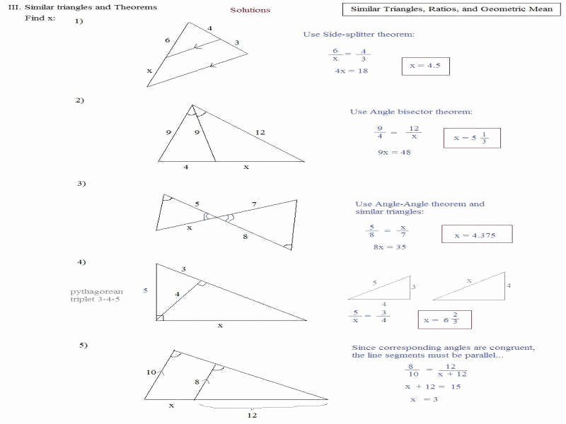 Similar Right Triangles Worksheet Awesome Triangle Similarity Worksheet