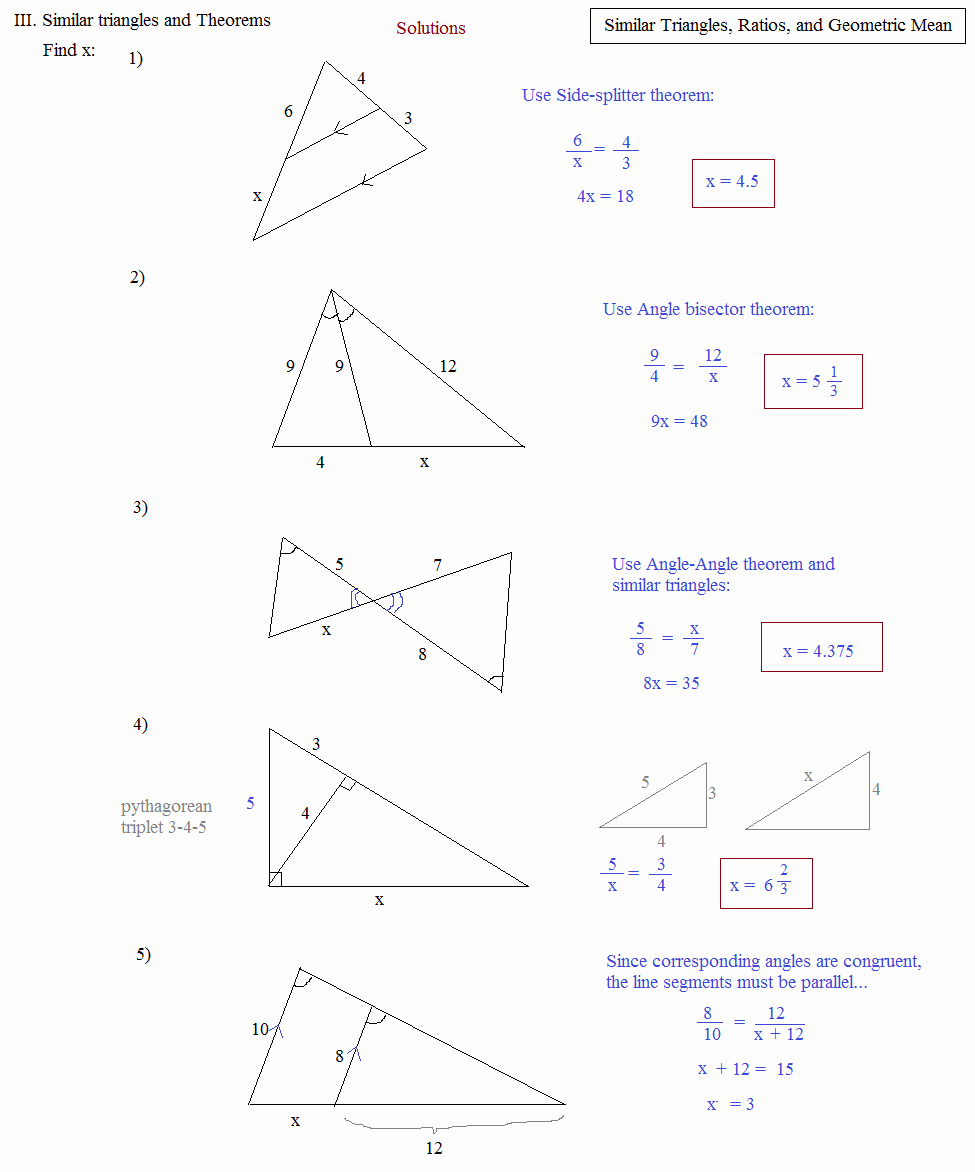 Similar Right Triangles Worksheet Beautiful Math Plane Similar Triangles & Ratios