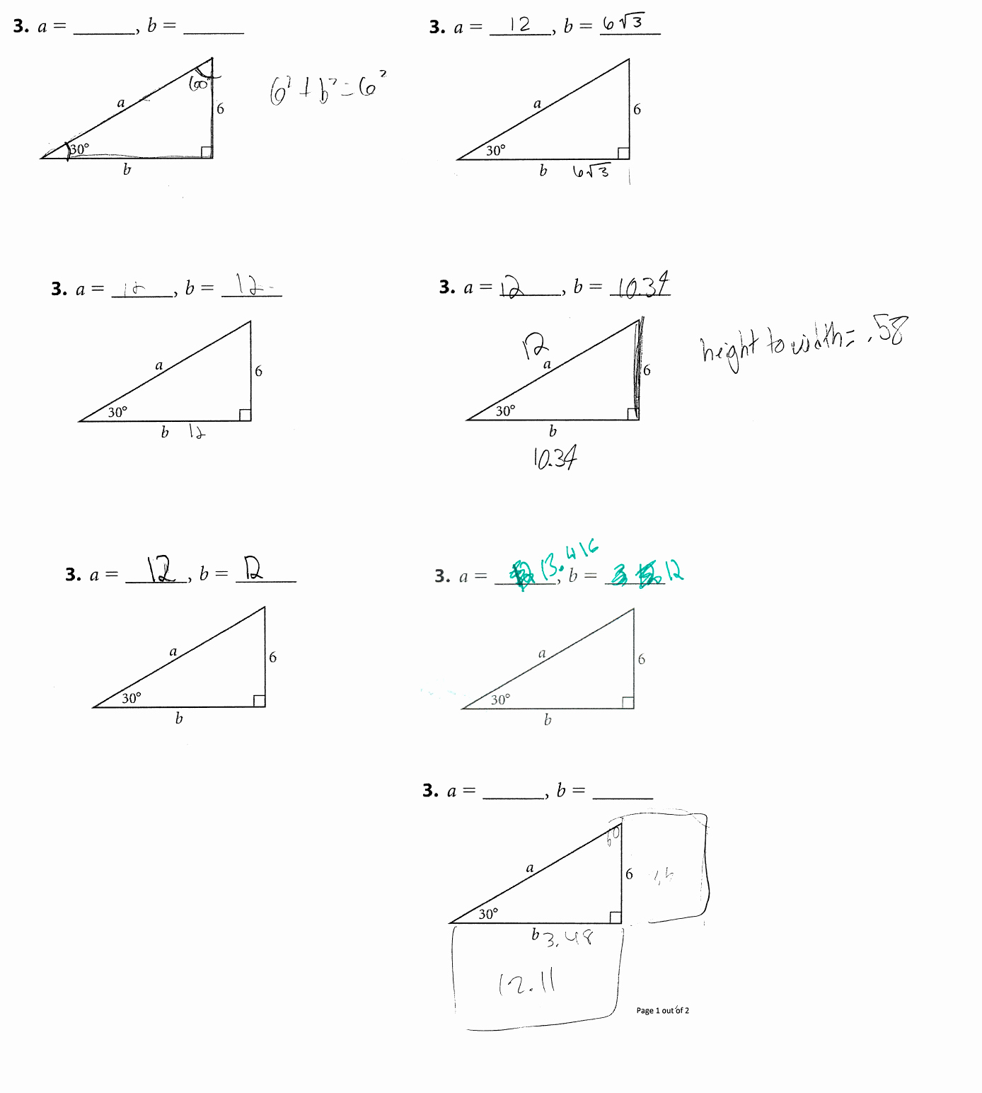 Similar Right Triangles Worksheet Beautiful Similarity Right Triangles and Trigonometry Math Mistakes