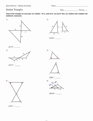 Similar Right Triangles Worksheet Best Of 4 Classifying Triangles Kuta software