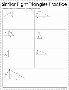 Similar Right Triangles Worksheet Fresh Similar Right Triangles Foldable by Mrs E Teaches Math