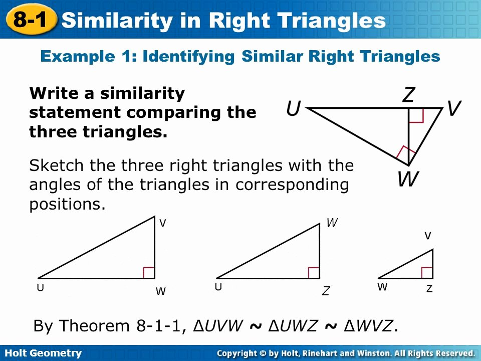 geometry worksheet 8 1 similar right triangles answer key