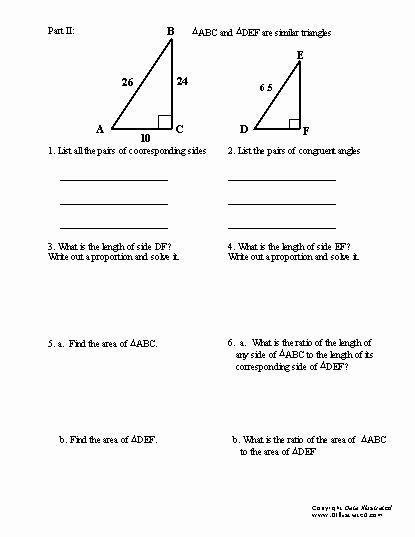 Similar Right Triangles Worksheet Lovely Similar Triangles Worksheet