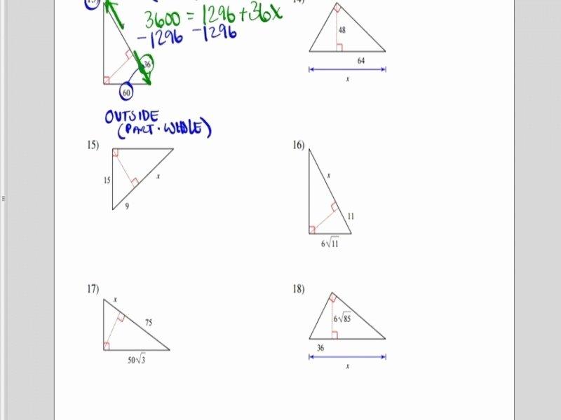 Similar Right Triangles Worksheet Lovely Similar Triangles Worksheet with Answers Free Printable