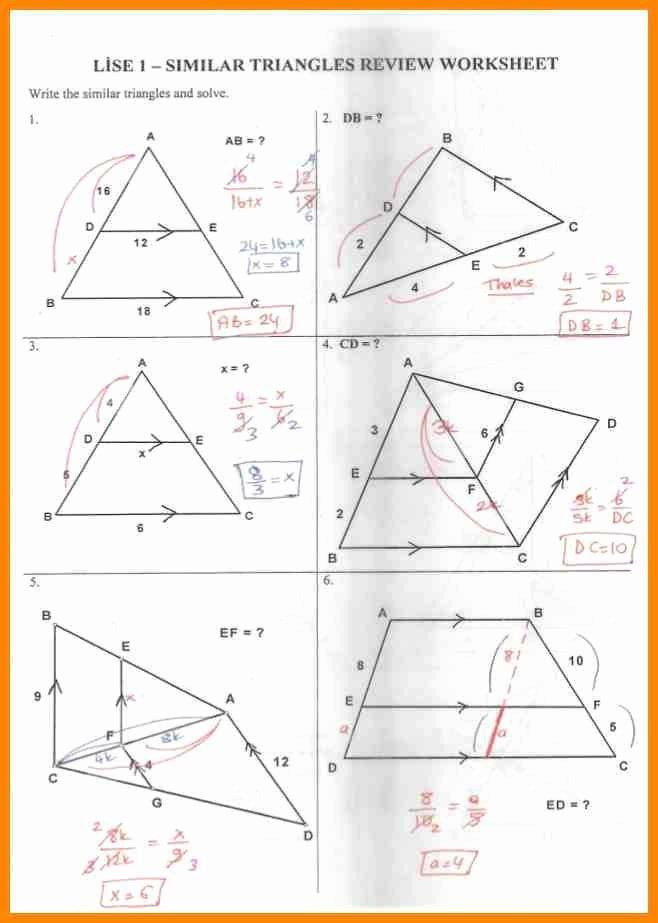 Similar Right Triangles Worksheet New Similar Triangles Worksheet