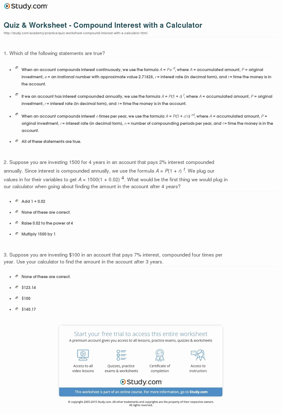Simple and Compound Interest Worksheet Awesome Investing Calculator for Windows 7 32bit Last