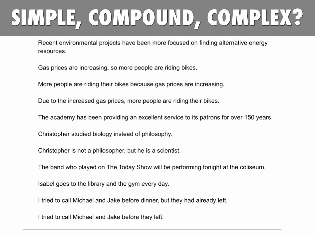 Simple Compound Complex Sentences Worksheet Unique Simple Pound Plex Sentences Worksheet