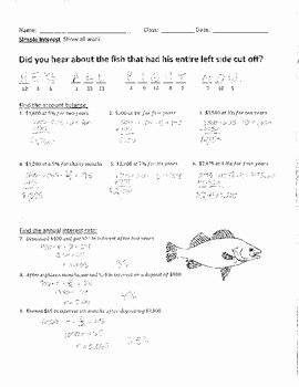 Simple Interest Problems Worksheet Beautiful Calculating Simple Interest Joke Worksheet with Answer Key