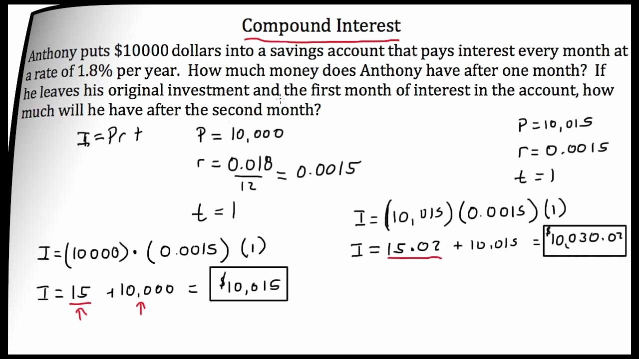 Simple Interest Problems Worksheet Beautiful Pound Interest