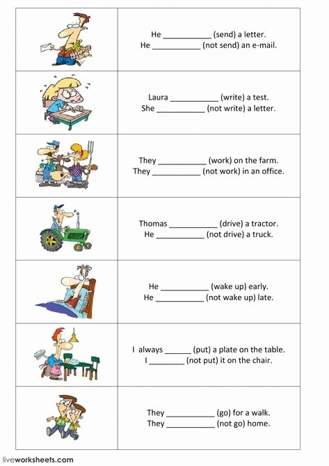 Simple Interest Worksheet Pdf Inspirational Present Simple Interactive and Able Worksheet You