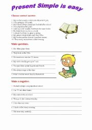 Simple Interest Worksheet Pdf Luxury Present Simple Exercises Pdf Английский