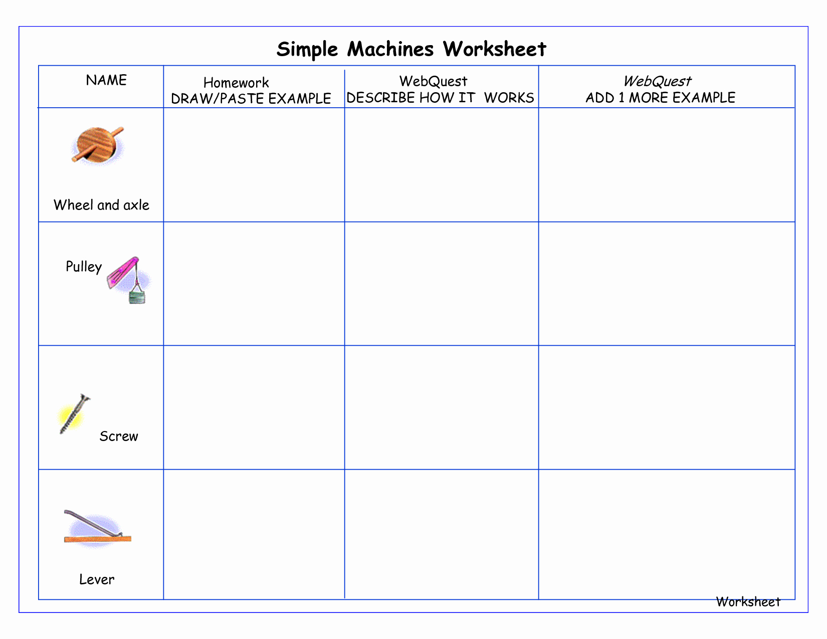 Simple Interest Worksheet Pdf Luxury Simple Machines for Kids