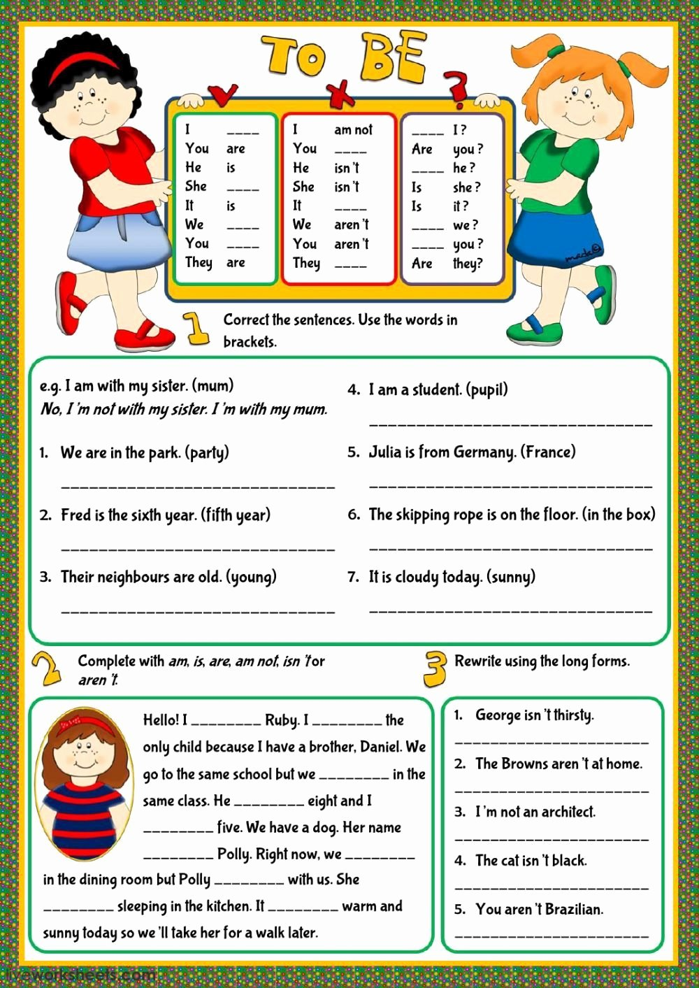 Simple Interest Worksheet Pdf New Verb to Be Interactive and Able Worksheet You Can