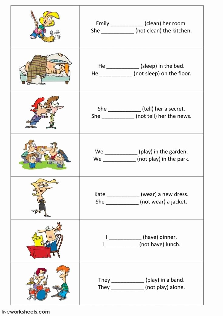 Simple Interest Worksheet Pdf Unique Present Simple Interactive and Able Worksheet You