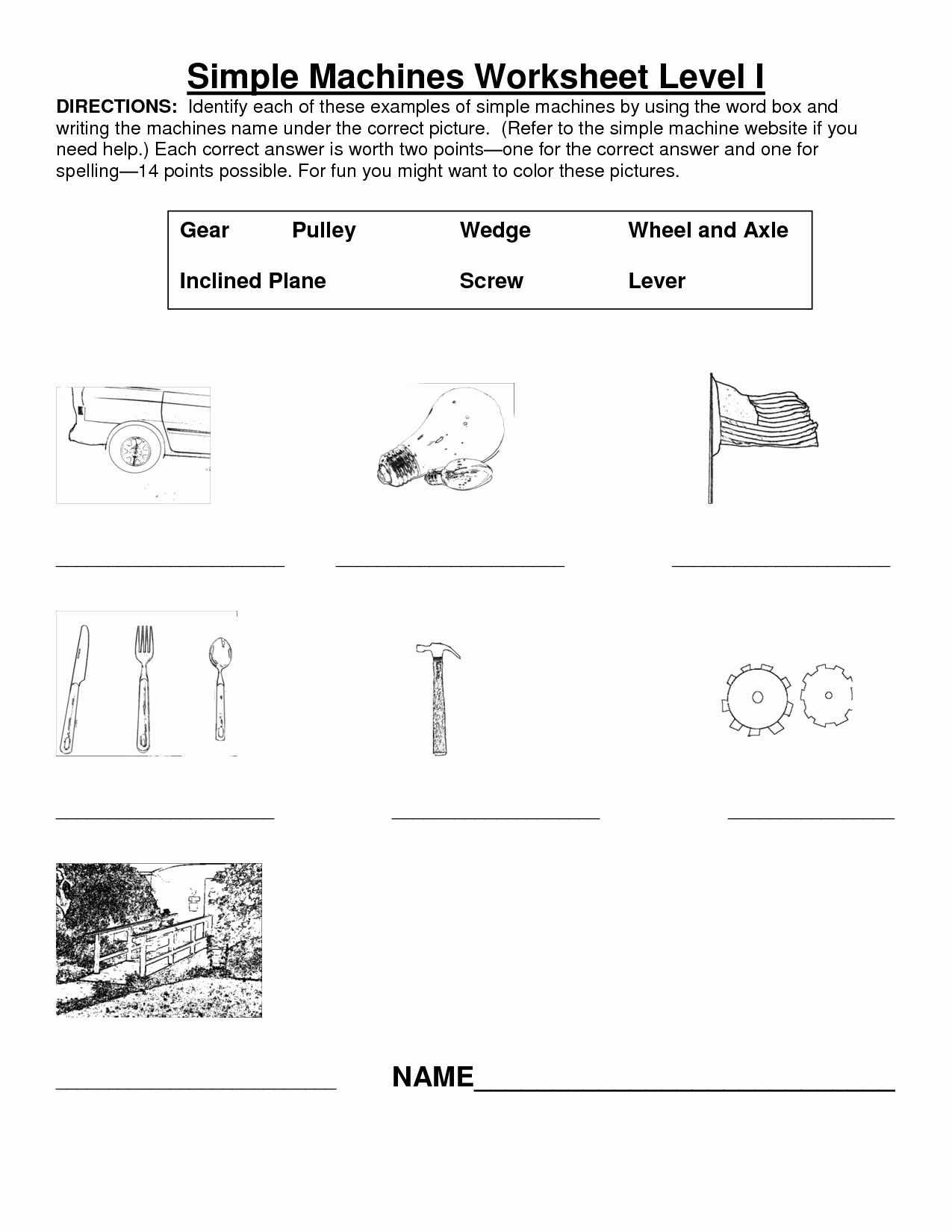 Simple Machines Worksheet Answers Lovely 14 Best Of Types Energy Worksheet Elementary