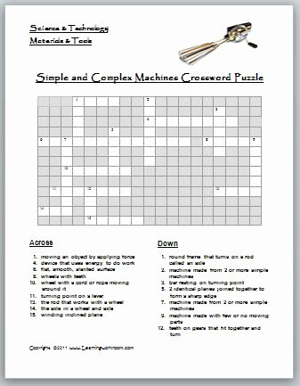 Simple Machines Worksheet Middle School Awesome Learning Ideas Grades K 8 May 2011