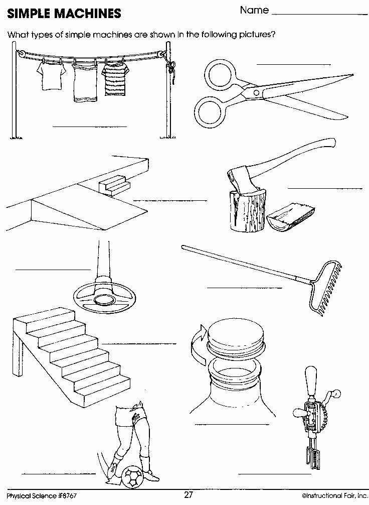 Simple Machines Worksheet Middle School Best Of Simple Machines Worksheet Homeschool Science